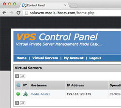 SolusVM Control Panel